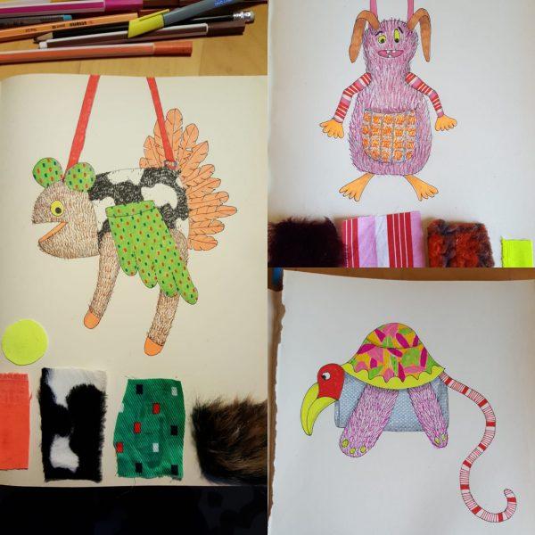 Er komt een fantasiebeest Tellmie aan! Zie hier de eerste ontwerpen van Ine Keitz.